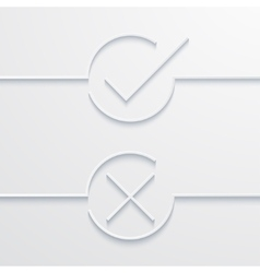 Modern white check mark vector