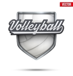 Premium symbol of volleyball label vector