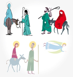 Star of bethlehem nativity vector