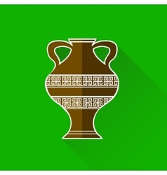 Greek amphora icon vector