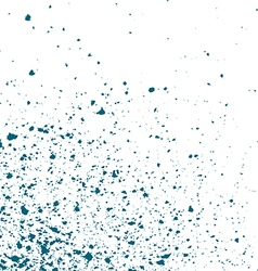 Blue light ink paint splatter on white background vector