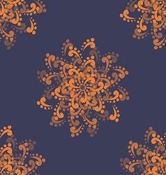 Orange abstract flowers vector