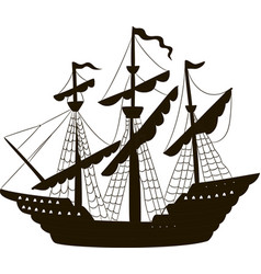 A sailing ship vector