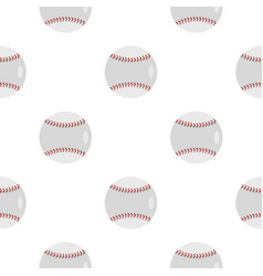 Ball for playing baseball pattern flat vector