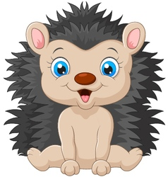 Cartoon sweet hedgehog vector image vector image