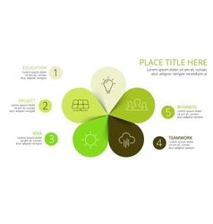 circle arrows green leaves eco infographic vector image