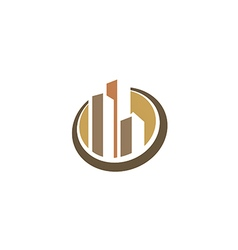 cityscape building construction logo vector image vector image