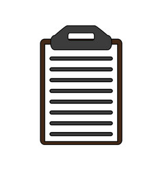 Clipboard with document design vector