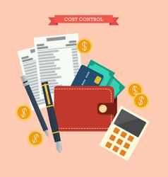 Cost control concept vector