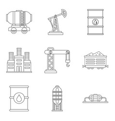 Diligence icons set outline style vector