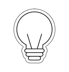 Electric bulb isolated icon vector