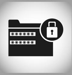 Folder file password padlock secuirty vector