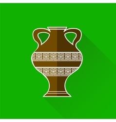 Greek amphora icon vector