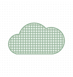 Green cloud fabric cute baby style vector