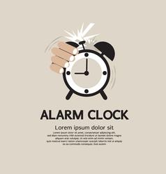 Hand stop alarm clock vector
