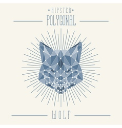 Hipster wolf head vector image