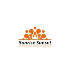 Isolated orange sunrise sunset logo summer vector
