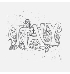 Italy hand-drawn design vector