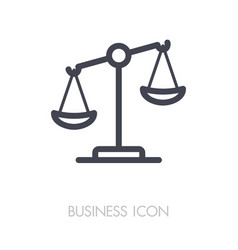 Law scale icon justice outline icon vector