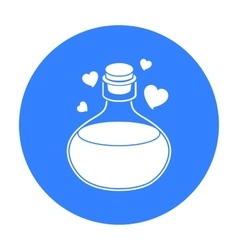 Love potion icon in black style isolated on white vector
