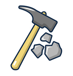 Pick tool icon cartoon style vector