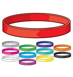 Rubber bracelet vector