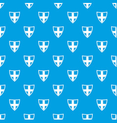 Shield for protection pattern seamless blue vector
