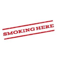 Smoking Here Watermark Stamp vector image vector image