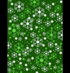 snowflake green background vector image vector image