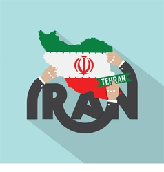 Tehran the capital city of iran typography design vector