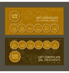 Template gift certificate vector