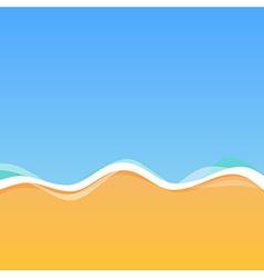 Top View of Sea Coast vector image