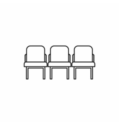 Row seats icon outline style vector