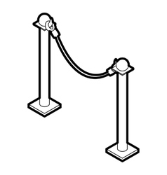 Barrier rope icon outline style vector