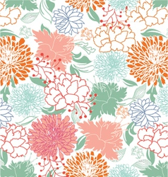 Vintage seamless floral pattern vector