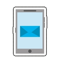 Isolated smartphone and envelope design vector