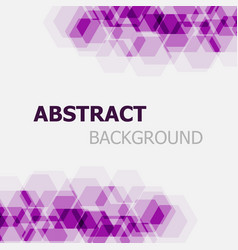 abstract purple hexagon overlapping background vector image