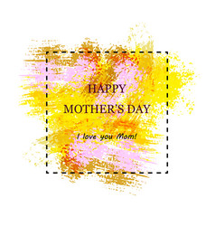 greeting card template for mother s day vector image