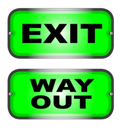 exit and way out vector image