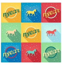 Funny simple picture retro new year vector