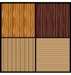 4 wood texture vector image
