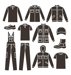Mens working clothes vector