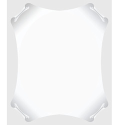 Scroll paper vector blank vector