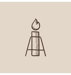 Gas flare sketch icon vector