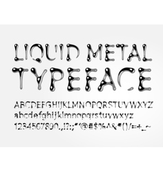 Liquid metal typeface vector