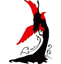 Graphic silhouette of a dancer woman vector