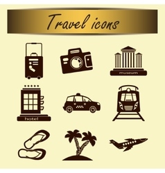 Set of travel icons for tourism business vector