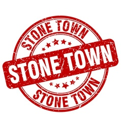 Stone town stamp vector