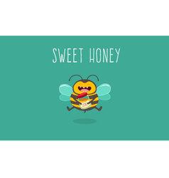 Bee Honey vector image vector image