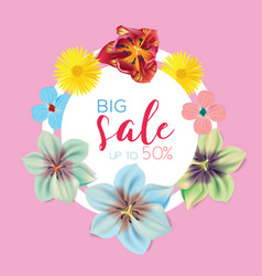 Big sale banner circle label vector